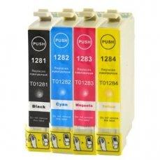 Epson T1281-T1284 съвместим икономичен комплект | print-magic.eu