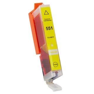 Canon CLI-551Y съвместима мастилница, жълт