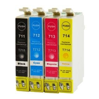 Epson T0711-T0714 съвместим икономичен комплект