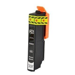 Epson 26XL (T2631) съвместима мастилница, фото черен